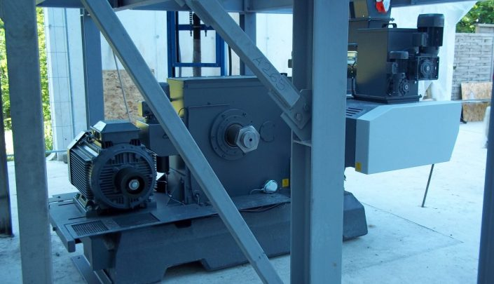 Briquetting press being installed at Andritz
