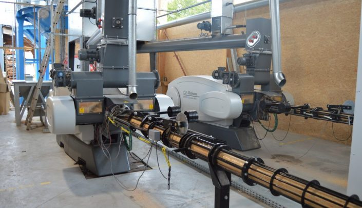Mechanical Briquetting Press BP6510 + cooling lines