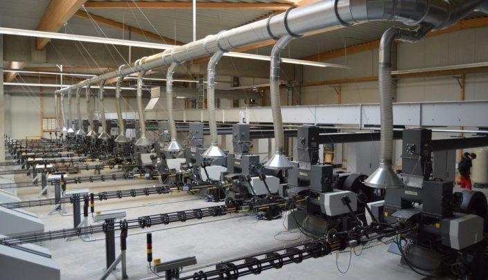 The 12 BP6500 briquetting presses.
