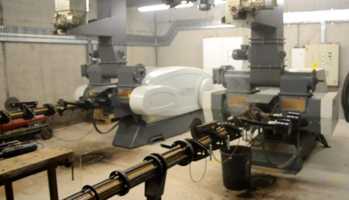 Briquetting machines in action