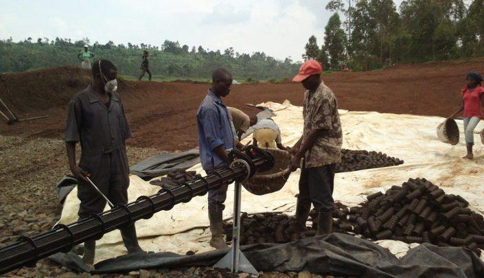 Production of briquettes in Rwanda