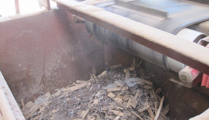 Collected raw material before shredding