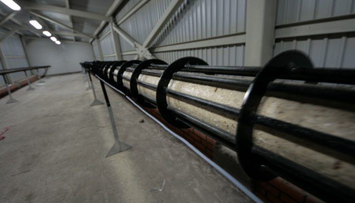 90 mm briquettes in cooling line