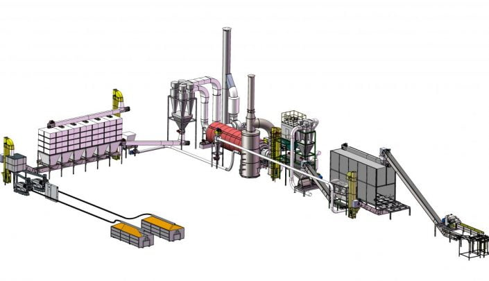 Layout of the fuel plant in Vietnam