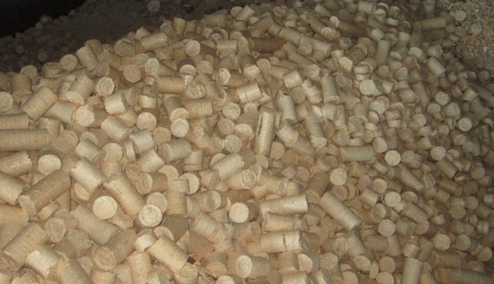 Finished industrial briquettes